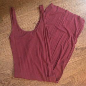 Forever 21 Ribbed Mauve Bodycon Dress